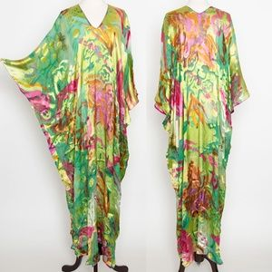 Josie Natori Couture Sheer Caftan